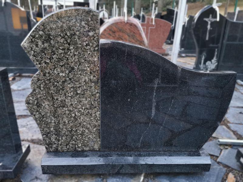 Dviejų detalių paminklas iš juodo ir žalsvo granito (VPM29)