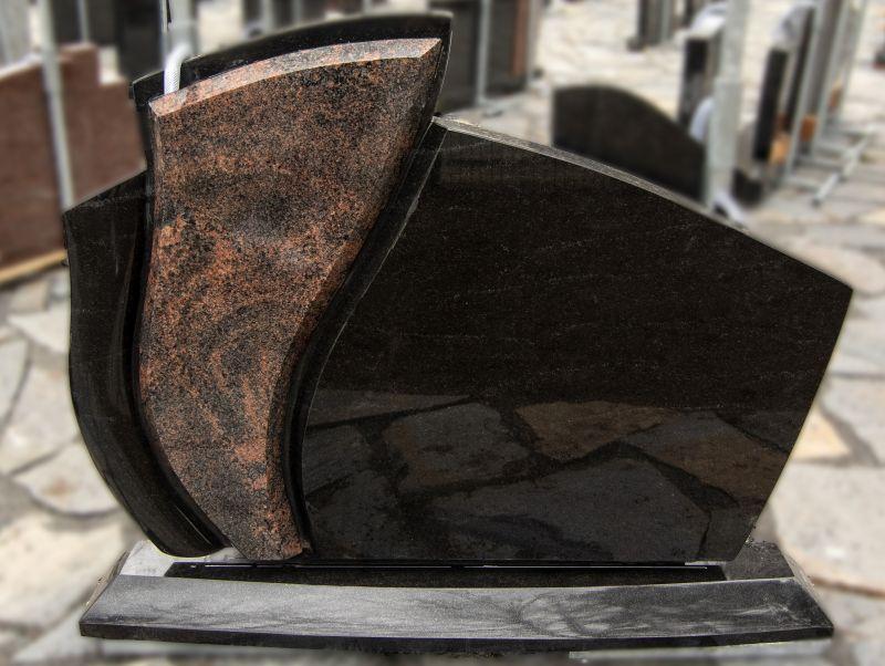 Juodo ir rudo granito paminklas (VPM11)