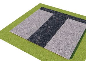 Pilkų granito plokščių uždengimas (KP18-1)