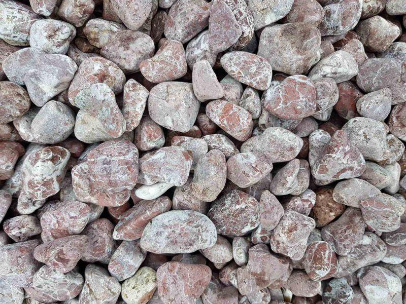 Rausvi gludinti akmenukai SYRIA (GA004)