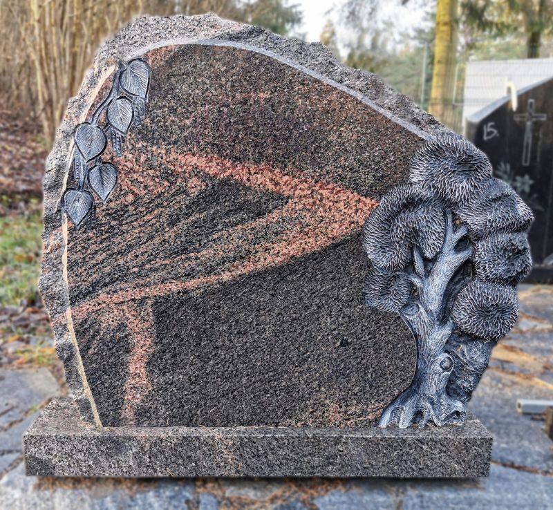 Rausvo granito paminklas (KUL32)