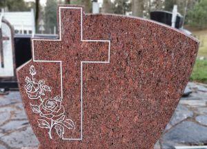 Rausvo Vanga granito paminklas (KEL10)