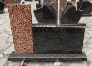 Rudo ir juodo granito dviejų dalių paminklas (SP709)