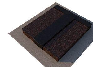 Rudo ir juodo granito uždengimas (KP14-1)