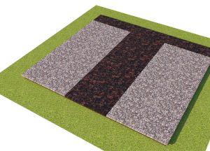 Rusvų granito plokščių uždengimas (KP18-2)