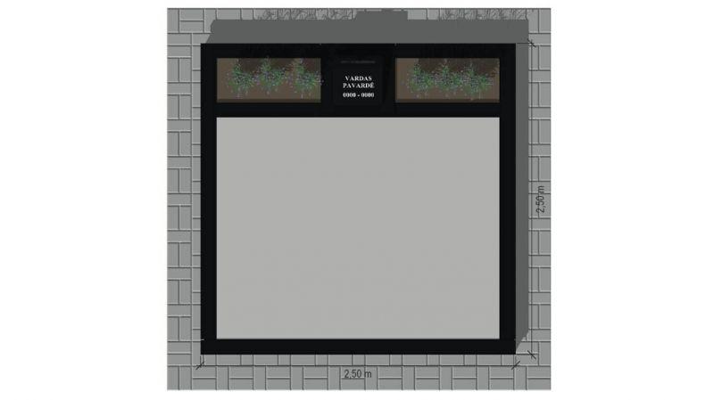 Skaldytų šviesių granito trinkelių ir juodo blizgaus akmens derinys (KP17-1)