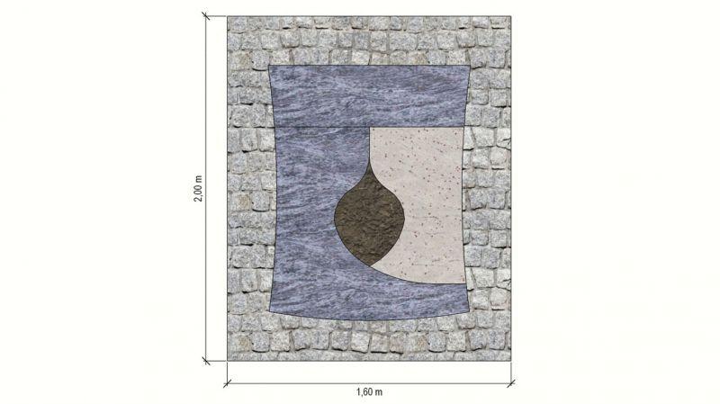 Šviesaus granito derinys mažai kapavietei (KP12-1)