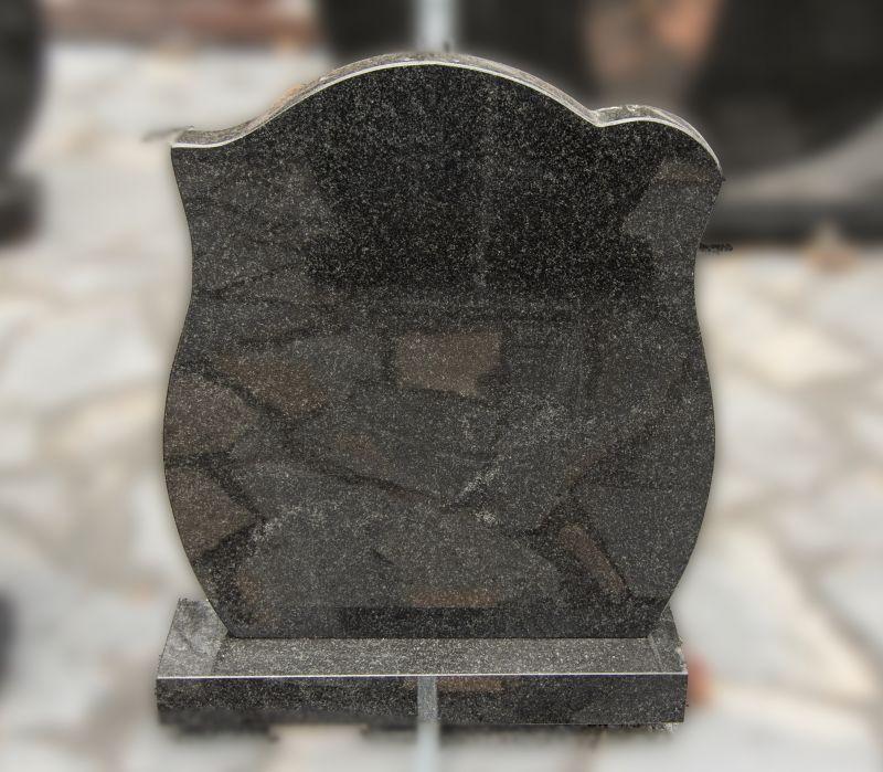 Tamsiai pilko granito paminklas (P1482)