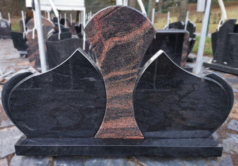 Trijų dalių paminklas su Auroros granito detale (KEL14)