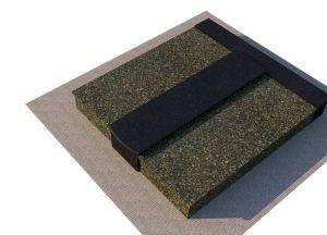 Žalsvo ir juodo granito uždengimas kapavietei (KP14-2)